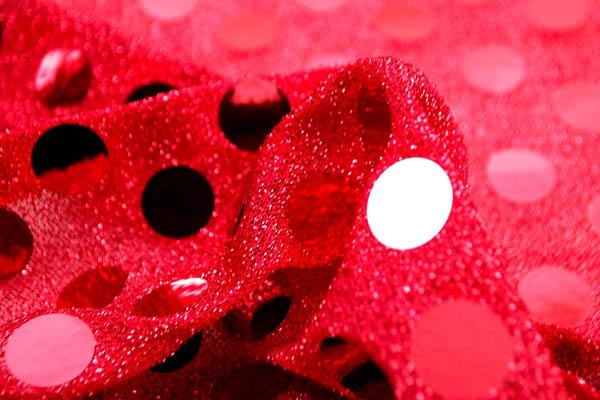 大玉スパンコール 15mm 赤字×赤