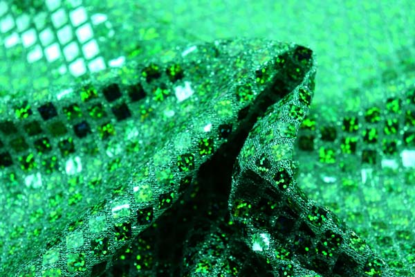 ホログラムスパンコール スクエア グリーンラメ×グリーンホログラム