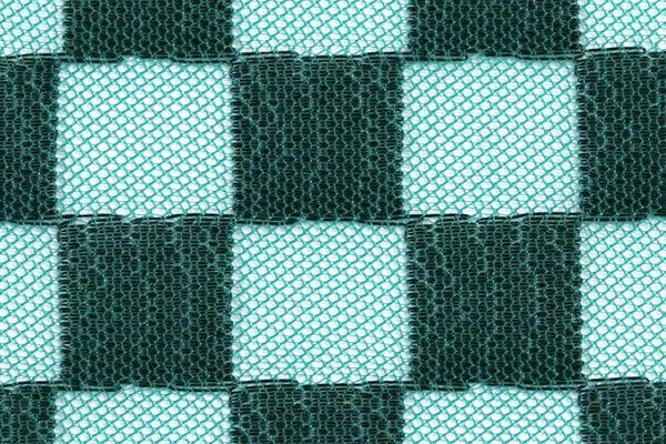 人気の和柄シリーズ ポリエステルネット 市松格子 緑×黒