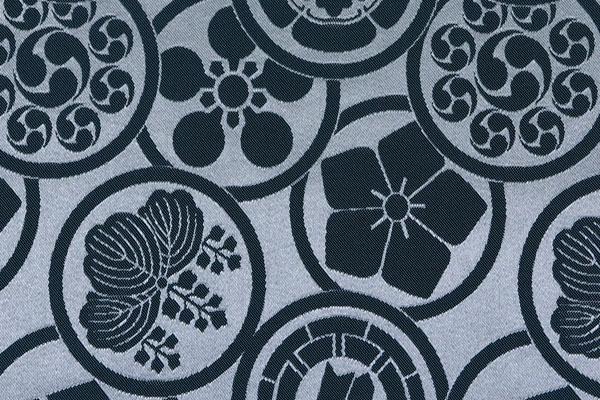 カチオンジャガード 家紋柄 銀