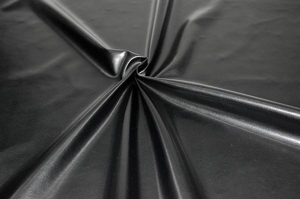 大人気のフェイクレザー生地 ソファーカバーに最適 黒色・ブラック(0602-50)