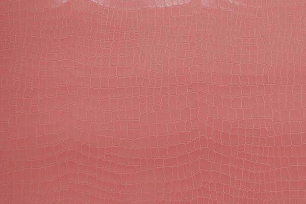 実は縫いやすい ワニ柄エンボス加工の フェイクレザー 淡いピンク