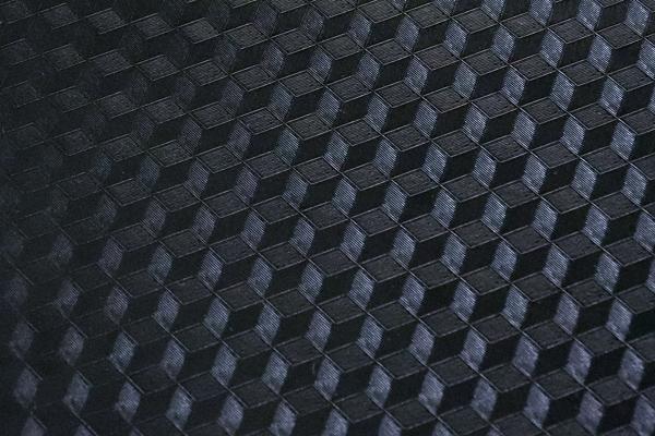 3D風のフェイクレザー ブラック