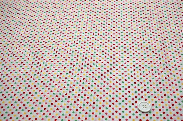 お洒落な水玉 ルシアンのドット柄 LECIEN 生地 3mm 白色地 ラブリーなドット(0620-02)