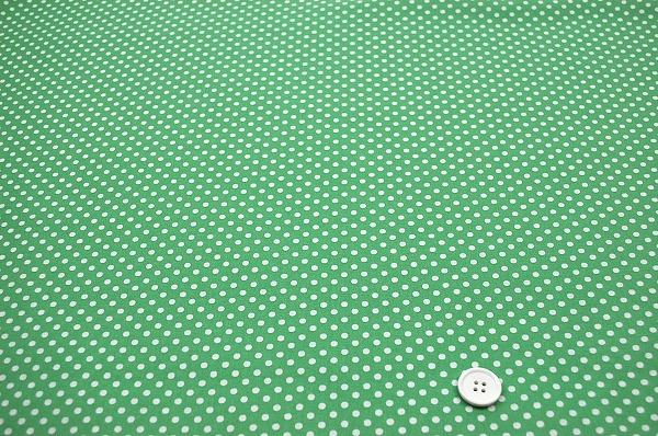 お洒落な水玉 ルシアンのドット柄 LECIEN 生地 3mm 薄い緑色・グリーン(0620-03)