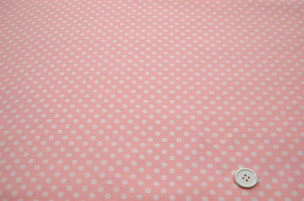 お洒落な水玉 ルシアンのドット柄 5mm ベビーピンク色(0620-11)