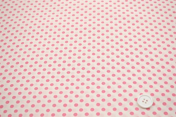 お洒落な水玉 ルシアンのドット柄 5mm ベビーピンク色(0620-14)