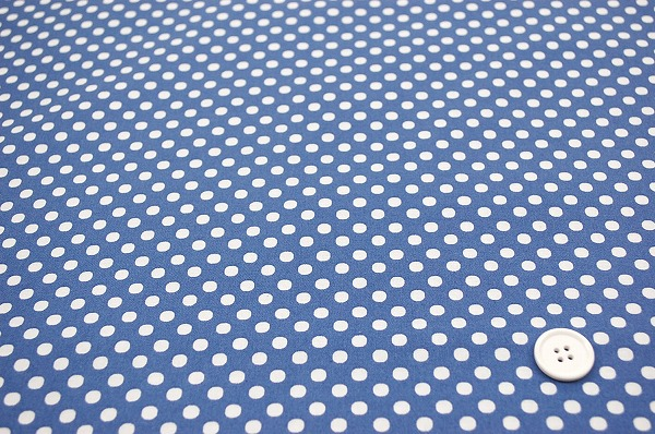 お洒落な水玉 ルシアンのドット柄 LECIEN 生地 5mm 淡いブルー(0620-15)
