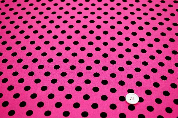 お洒落な水玉 ルシアンのドット柄 10mm Simple is BEST パッションピンク色(0620-29)