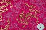 チャイナ・ブロケード・チャイナ服の生地(竜と牡丹・ショッキングピンク)