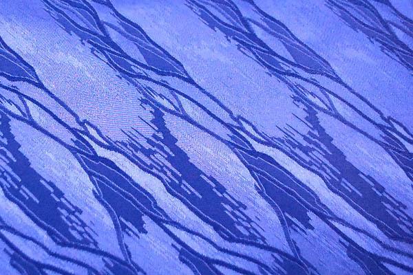 W巾のサテンジャガード 意匠柄 瑠璃紺