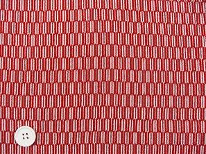 歴史を感じる和風生地 矢絣柄 矢羽根 レーヨンちりめん生地 赤色・レッド(0643-50)