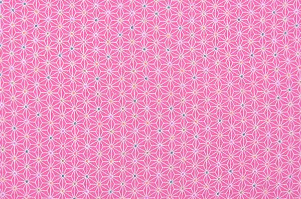 かわいい麻の葉の模様 レーヨンちりめん生地 麻の葉文 ピンク色(0643-54)