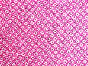 伝統的なちりめん生地 疋田文 鹿の子絞り 一目絞り 鹿の子しぼり かわいいピンク色(0643-72)