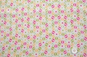 かわいい麻の葉の模様 レーヨンちりめん生地 若草色 ピンク色 オレンジ色(0643-96)