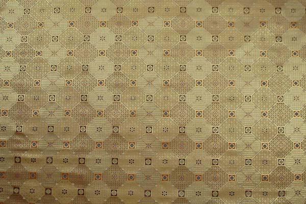 金襴 三丁サビ 蜀江文(花文・四花菱・七宝など) 金色 0651-06