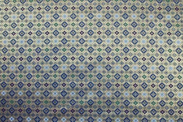 金襴 三丁サビ 蜀江文(花菱) 金色×紺 0651-34
