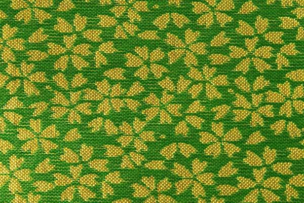 金襴などの手芸材料 日本の伝統 金襴 小桜 抹茶地×金