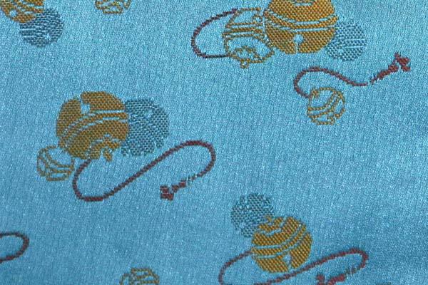 金襴などの手芸材料 日本の伝統 鈴散らし くすんだ青緑
