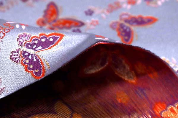 金襴などの手芸材料 日本の伝統 金襴 胡蝶 灰銀