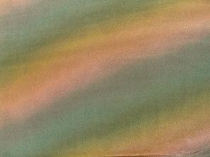 和風生地 無地 ちりめん生地 グラデーション ぼかし 抹茶色とオレンジ色(0663-02)
