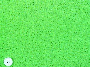 レーヨンちりめん生地 金散らし 金箔 キラキラ生地 金色のドット 黄緑色地(0663-35)