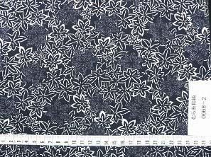 むら糸 和柄生地 和布 藍染風の伝統的な和風生地(紅葉柄・もみじ柄)(0668-02)
