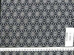 むら糸 和柄生地 和布 藍染風の伝統的な和風生地(麻の葉文様)(0668-07)