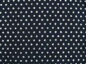 むら糸 和柄生地 和布 藍染風の伝統的な和風生地(雪絣)(0668-13)
