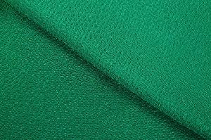 無地のレーヨンちりめん生地 縮緬生地 緑色・グリーン(0669-54)