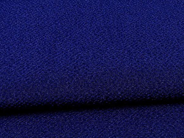 無地のレーヨンちりめん生地 縮緬生地 紺色・ダークブルー(0669-56)