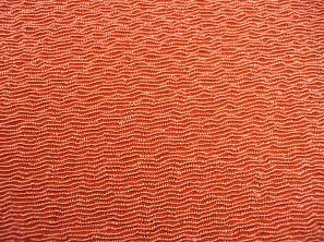 無地のレーヨンちりめん生地 縮緬生地 猩々緋・オレンジ色(0669-64)