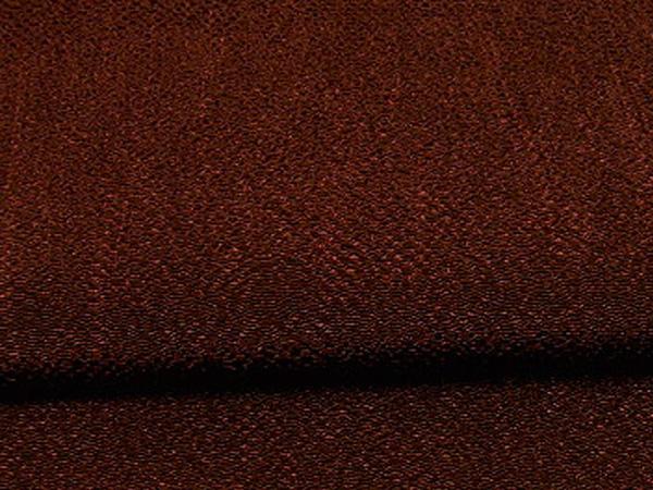 無地のレーヨンちりめん生地 縮緬生地 茶色・ブラウン(0669-65)
