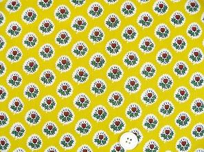 SOULEIADO ソレイアードの生地 ラ・フルール・ダルル)黄色(イエロー)(0673-33)