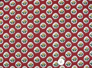 SOULEIADO ソレイアードの生地 ラ・フルール・ダルル)赤色(レッド)(0673-34)