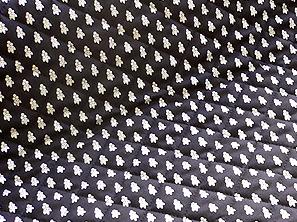 SOULEIADO ソレイアードのキルティング生地 ラ・プティット・ムーシュ 黒色(ブラック)(0673-43)