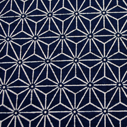 むら糸 和柄生地 和布 藍染風の伝統的な和風生地 麻の葉