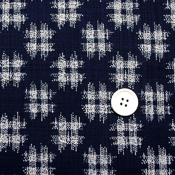 むら糸 和柄生地 和布 藍染風の伝統的な和風生地 井絣