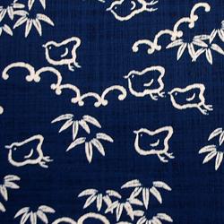 むら糸 和柄生地 和布 藍染風の伝統的な和風生地 千鳥