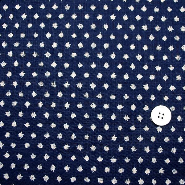 むら糸 和柄生地 和布 藍染風の伝統的な和風生地 雪紋絣