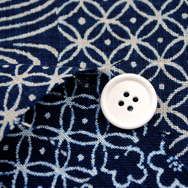 むら糸 和柄生地 和布 藍染風の伝統的な和風生地 桜・梅・七宝・観世水