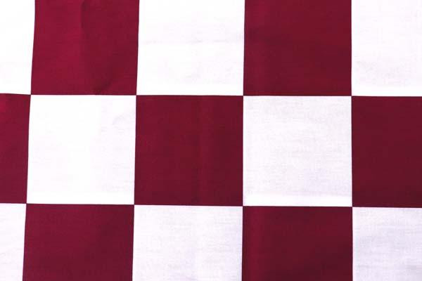 人気の和柄シリーズ 市松格子(石畳) 赤×白