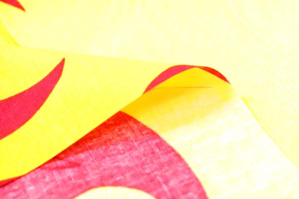 日本の伝統 ブロードの焔(ほのお)の柄 ボーダー柄(プリントは片耳)