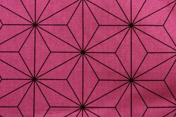日本の伝統柄 シーチングプリント 麻の葉 くすんだピンク
