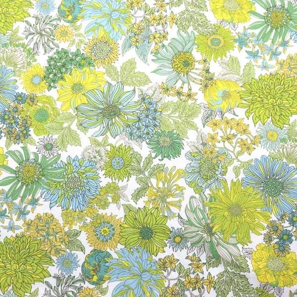 ルシアンのメモアール・ア・パリ オックスフォード オフ地×黄色系の花