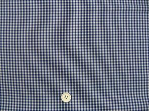ギンガムチェック  3mm アオ(1105-64)