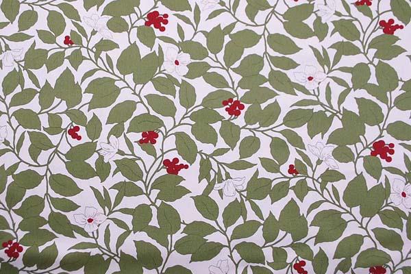 コットンツイル(あや織り) 花柄プリント ベージュ