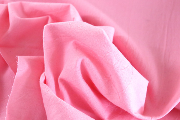 衣料にも手芸にも使える万能素材 シーチング ハンドワッシャー ピンク