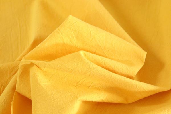 衣料にも手芸にも使える万能素材 シーチング ハンドワッシャー イエロー