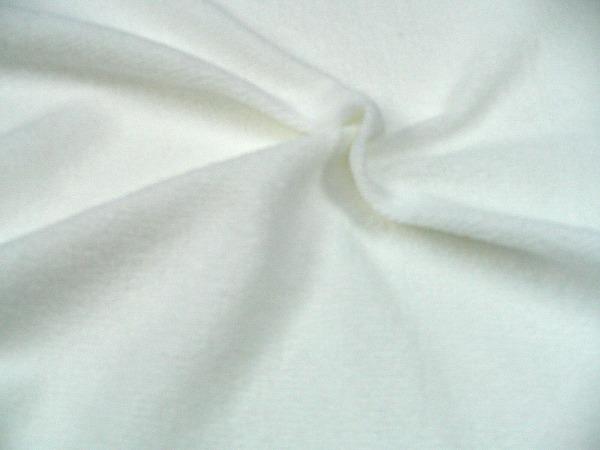 片面パイル 柔らかい手触りのベビーパイルニット 白